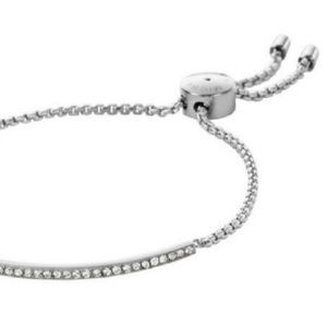 ♡New Michael Kors Silver Crystal Slide Bracelet♡